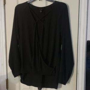 Worthington black blouse